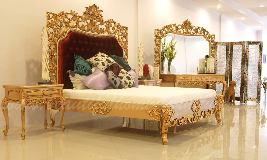 The Gold Royal mahogany bedroom Furniture