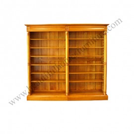 High Colonial Open Bookcase