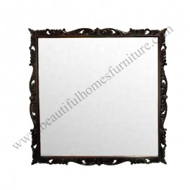 Square Carved Mirror